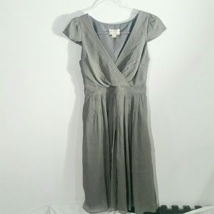 J Crew grey chiffon dress, size 2